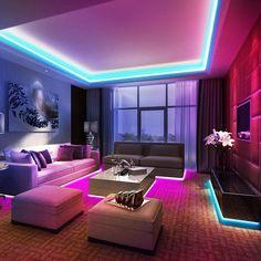 Ksipze LED Strip Lights 16.4ft RGB Color Changing 5050 Flexible Strip Lights with 44 Keys Remote Controller and 12V Power Supply LED Lights for Bedroom TV Home Lighting Room Decoration