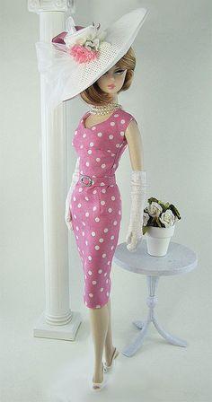 Pink polka dot for Barbie Barbie Vintage, Barbie Fashionista, Barbie Dress, Barbie Clothes, Pink Barbie, Beautiful Barbie Dolls, Chic Chic, Barbie Collection, Barbie Friends