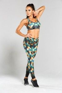 Galaxy Leggins Women Colored Triangle