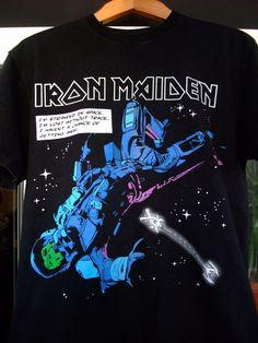 Iron Maiden The Final Frontier 2013 Eddie in space 100% Cotton M black