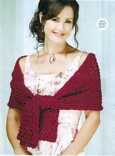 One weekend is all you need to create this quick-knit creation! Knitting a pretty shawl doesn't have to take forever when you use worsted weight yarn with a nice drape and an easy lace pattern stitch. This shawl is perfect for any season in any color you fancy! Simple rectangular construction using big needles and easy dropped stitch pattern knit up to a lovely openwork shawl.