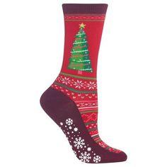 Women/'s Elf Movie 3 Pack Mystery Slide Box Crew Socks 4-10 Christmas New