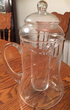Vintage Princess House Crystal Heritage Pitcher With Ice Tube