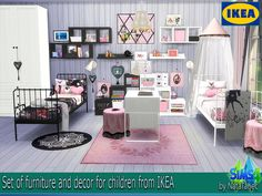 "Lana CC Finds - Children's ""Pink Boom"" IKEA by Natatanec"