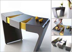 Accordion Folding Kitchen Table, modular kitchen table from Olga Kalugina 1