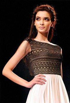 Diana-Pentyat at Signature International fashion week in Mumbai Nov 2013 Diana Penty, Bollywood Girls, Bollywood Fashion, Indian Bollywood, Bollywood Actress, Ethnic Outfits, Indian Outfits, Frocks And Gowns, Simple Gowns