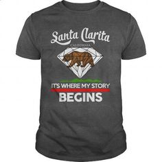 Santa Clarita - CALIFORNIA - ITS WHERE MY STORY BEGINS 2016 - #mens hoodies #cute t shirts. ORDER NOW => https://www.sunfrog.com/Names/Santa-Clarita--CALIFORNIA--ITS-WHERE-MY-STORY-BEGINS-2016-Dark-Grey-Guys.html?60505
