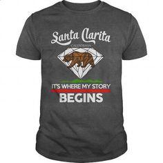 Santa Clarita - CALIFORNIA - ITS WHERE MY STORY BEGINS 2016 - #mens hoodies #cute t shirts. ORDER NOW => https://www.sunfrog.com/Names/Santa-Clarita--CALIFORNIA--ITS-WHERE-MY-STORY-BEGINS-2016-Dark-Grey-Guys.html?60505