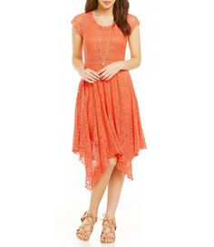 883b95015d9bc #Dillards Casual Dresses For Women, Formal Dresses, Cute Dresses, Coral  Lace,