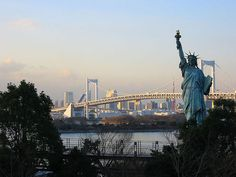 I confused quite a bit of people with the mini Statue of Liberty :P  Odaiba  Tokyo  Japan
