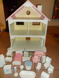 kids dollhouse furniture. pottery barn kids my 1st doll house w furniture retired as is ebay 139 dollhouse r