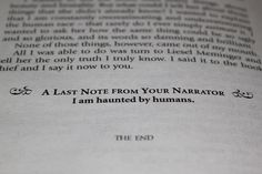 I am haunted by humans. The Book Thief