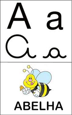 Aprender Brincando: Alfabeto ilustrado 2 Classroom Decor, Blog, Toddler Learning Activities, Alphabet For Kids, Alphabet Letters To Print, Read Box, Preschool Writing, Letter B, Kids