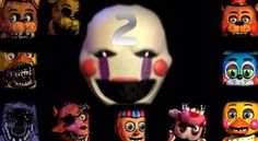 Characters of FNAF 2!