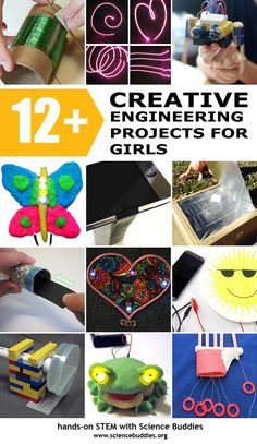 """Engineering Projects to Celebrate Girl Day"": Encourage a girl to do a creative engineering project or activity! [Science Buddies: http://www.sciencebuddies.org/blog/2016/02/engineering-projects-to-celebrate-girl-day-eweek.php?from=Pinterest] #eweek2016 #engineering #scienceproject #STEM #girlsinscience"