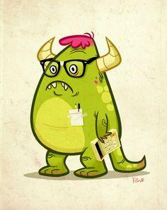 Monster Nerd by Paul Gill, via Behance {absolutely brilliant}