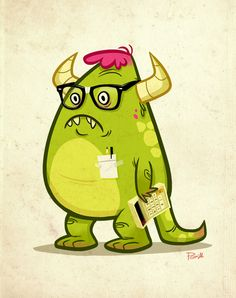 Monster Nerd by Paul Gill, via Behance {absolutely brilliant}