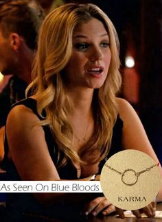 We found our amazing Dogeared Karma Necklace on Blue Bloods!! Get yours @marleyrose.com.au