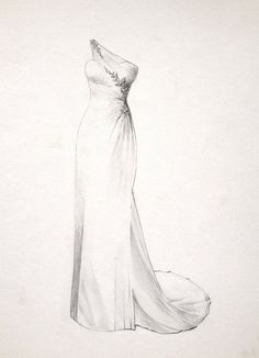 The Perfect Dress Drawing for a Bride.. Wedding or Anniversary Gifts for the Wife. Hand Drawn Wedding Dress Illustration on Etsy, £175.00