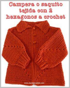 Patron campera o saquito tejida con 2 hexagonos a crochet o ganchillo con paso a paso o tutorial04