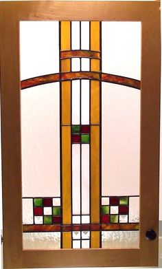 Arts & Crafts Geometric Stained Glass
