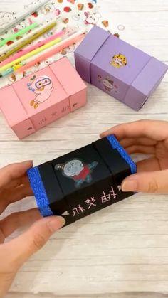 Cool Paper Crafts, Paper Crafts Origami, Cardboard Crafts, Fun Crafts, Crafts For Kids, Diy Crafts Hacks, Diy Crafts For Gifts, Decor Crafts, Diy Crafts Pencil Case