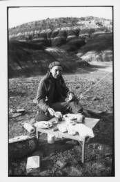 Chronicling O'Keeffe -- Georgia O'Keeffe, breakfast at the Black Place, 1944, Georgia O'Keeffe Museum, Gift of Marie Chabot