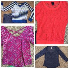 Dressy Top Blouse Bundle Hollister Aeropostale FINAL REDUCTION BEFORE BEING DONATED! All in excellent condition! See individual listings in my closet for more pictures. Hollister Tops Blouses