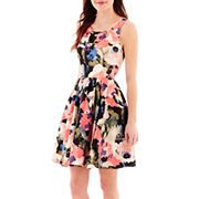Danny & Nicole® Sleeveless Floral Print Fit-and-Flare Dress