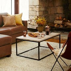box frame coffee table - glass/antique bronze   coffee, glass and