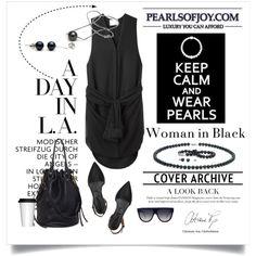 CONTEST-Pearls Of Joy by cruzeirodotejo on Polyvore featuring 3.1 Phillip Lim, Proenza Schouler, CÉLINE, Sagaform, contest, pearls, blackonblack and pearlsofjoy