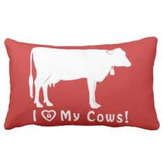 I Love My Cows! Lumbar Pillow