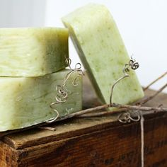 Minty, cool and refreshing.  All natural, handmade and vegan soap.