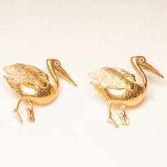 The Pelecan earrings..Inspiration The Pelecan Of the Mykonos island
