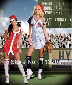 One for us guys  2013 sexy women fashion adult grand slam baseball costume soccer clothing Hot sell halloween style Baseball Player Costumes(China (Mainland))