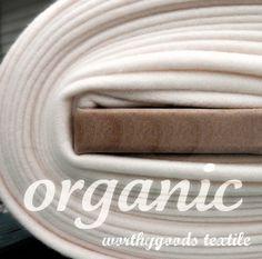Organic Cotton Fleece - Yard Yardage - Domestically Made GOTS Certified - Wide Cream Ivory Eggshell. 21.00, via Etsy.