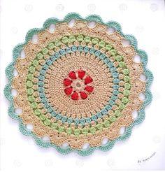 "Photo from album ""Haafner Linssen Mandalas to Crochet on Yandex. Crochet Motif, Crochet Patterns, Doilies, Garland, Elsa, Handmade, Yandex Disk, Album, Book"