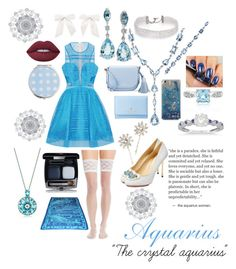 """the Crystal Aquarius  (Aikatsu inspiration)"" by sasukeuchiha2498 ❤ liked on Polyvore featuring Effy Jewelry, Charlotte Olympia, Charnos, Kate Spade, DANNIJO, Allurez, Lime Crime, Miss Selfridge, WallPops and Jennifer Behr"