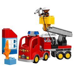2015 LEGO Duplo Town 10592 Fire Truck Building Kit for sale online Toy Trucks, Fire Trucks, Lego Duplo Town, Lego System, Lego Construction, Popular Toys, Buy Lego, 2 Year Olds