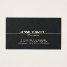 Professional Design Elegant Black Gold Luxury Business Card - modern gifts cyo gift ideas personalize
