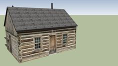 Maltese Cross Cabin - Theodore Roosevelt National Park - 3D Warehouse