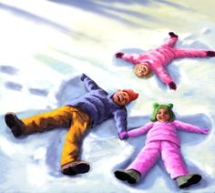 Jeremy Norton Illustration - Snow Angels