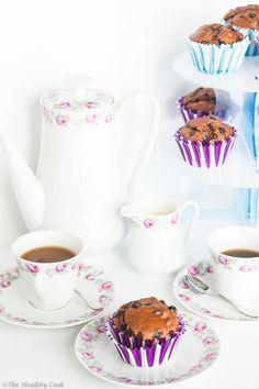 Μάφινς Σοκολάτας χωρίς Ζάχαρη - The Healthy Cook Chocolate Muffins, Tea Pots, Sweets, Baking, Tableware, Recipes, Food, Chocolate Chip Muffins, Dinnerware