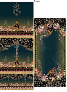 Vintage Borders, Design Seeds, Border Design, Textile Design, Digital Prints, Layouts, Fabric, Inspiration, Ideas