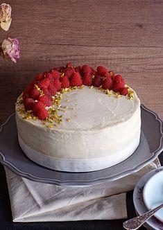 Obrázek - Malinový dort s krémem z bílé čokolády