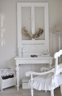 Using  a door is a great way to add a top to a vanity. You can add a mirror or keep it as it is!