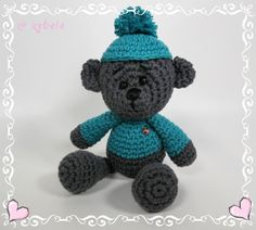 """UNIQUE CREATION """"Love Kids"""" Handmade wobbly bear from The House of Kybele Height: 28 cm Soft wool washable with 30 degrees made in Austria Green Recycled packaging Recycling, Crochet Hats, Teddy Bear, Toys, Unique, Packaging, Cotton, Knitting Hats, Activity Toys"""
