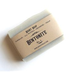 Handmade soap with Bentonite clay. Bentonite is one of the most absorbent clays in the world and works wonders for oily and acneic skin.
