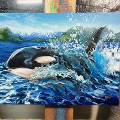 It's been to long since I painted an orca