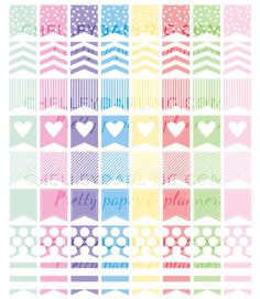 Free planner printables colorful Page Flags Chelley Darling